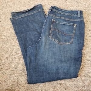 Ladies Lee Curvy Boot Cut Jeans 18 Short